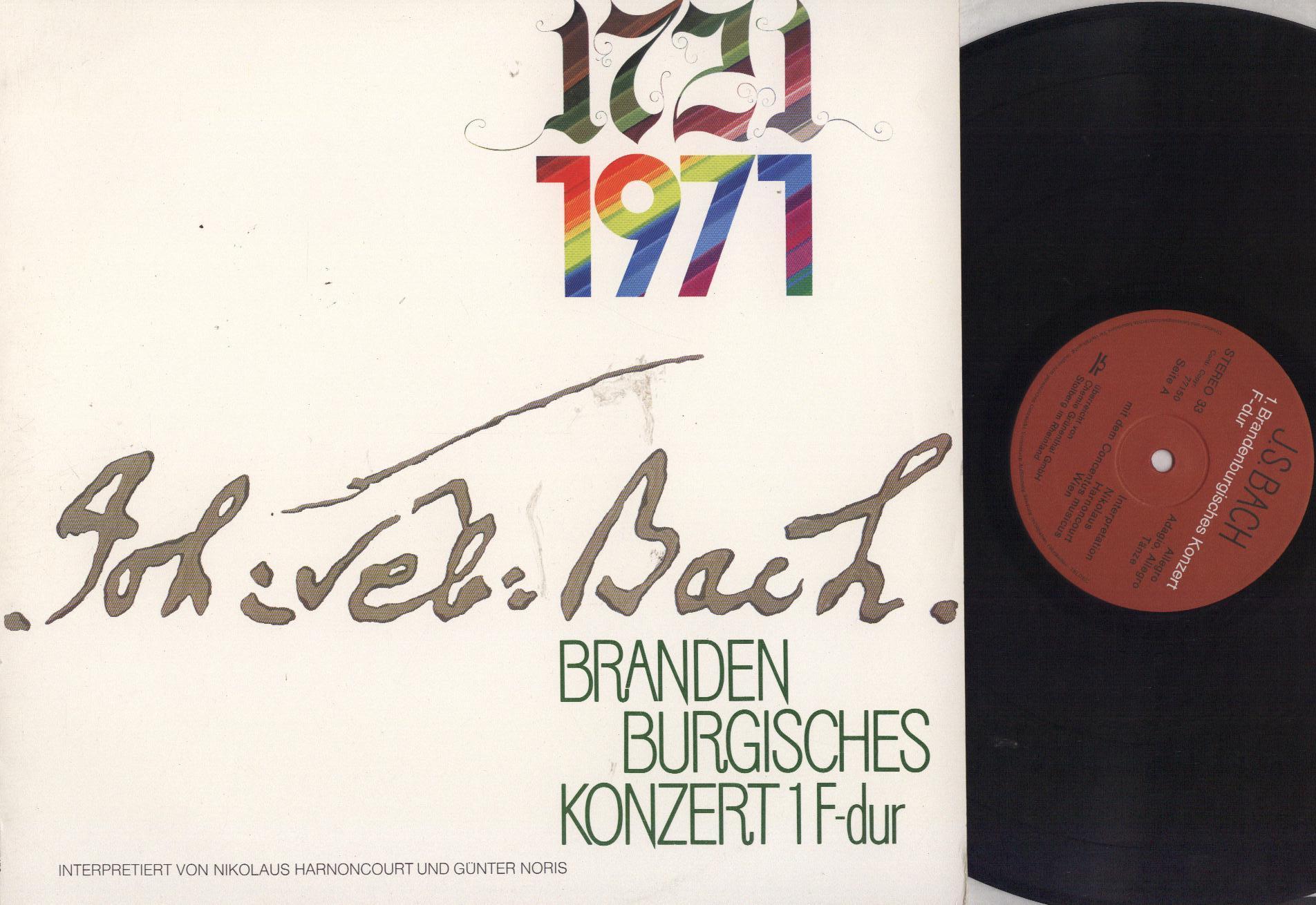 Johann Sebastian Bach - Nikolaus Harnoncourt / Gün 1721 1971 - Brandenburgisches Konzert 1 F-dur