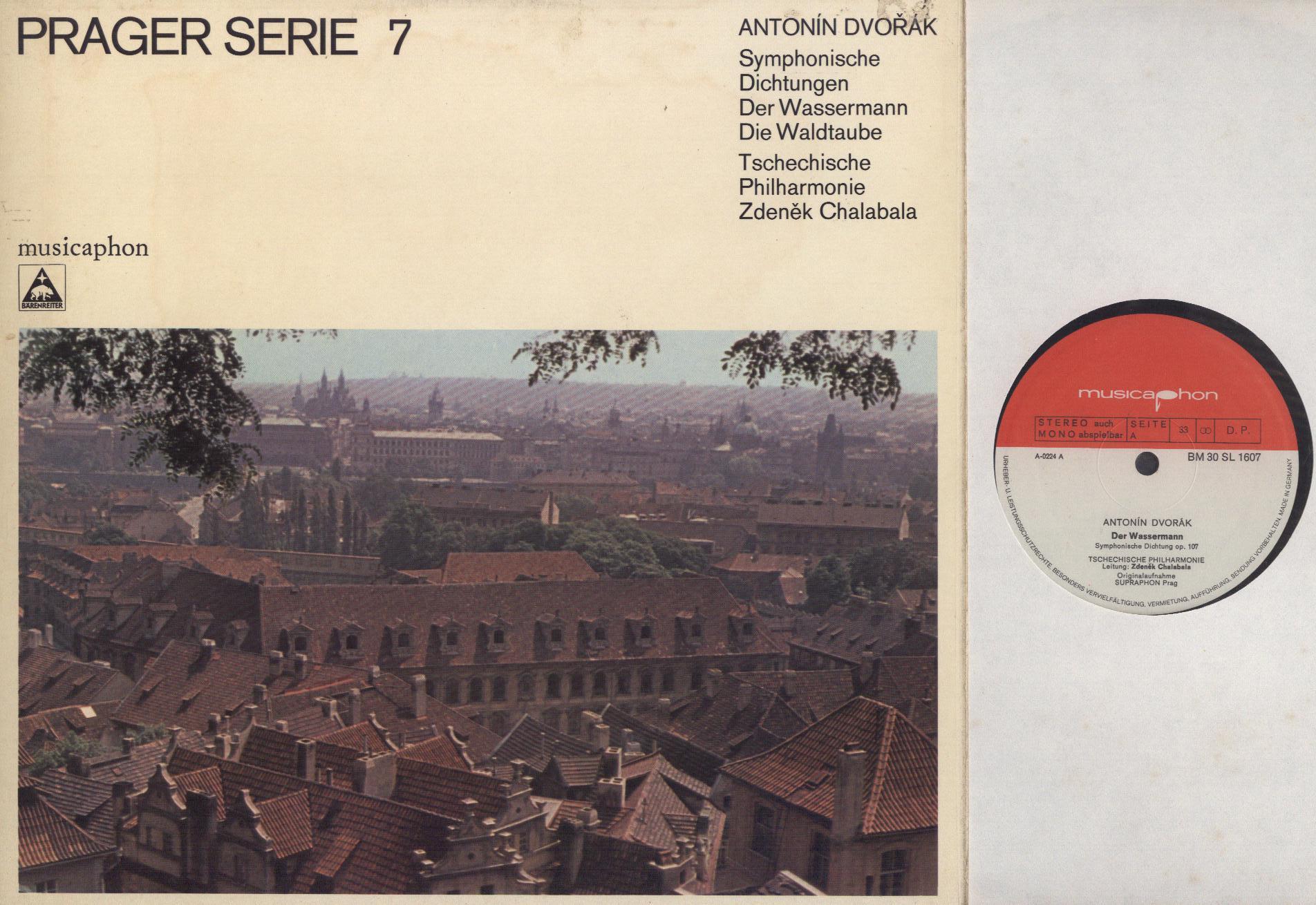 Antonín Dvořák - Zdeněk Chalabala, The Czech Philh - Symphonische Dichtungen: Der Wassermann / Die Waldtaube - 33T Gatefold