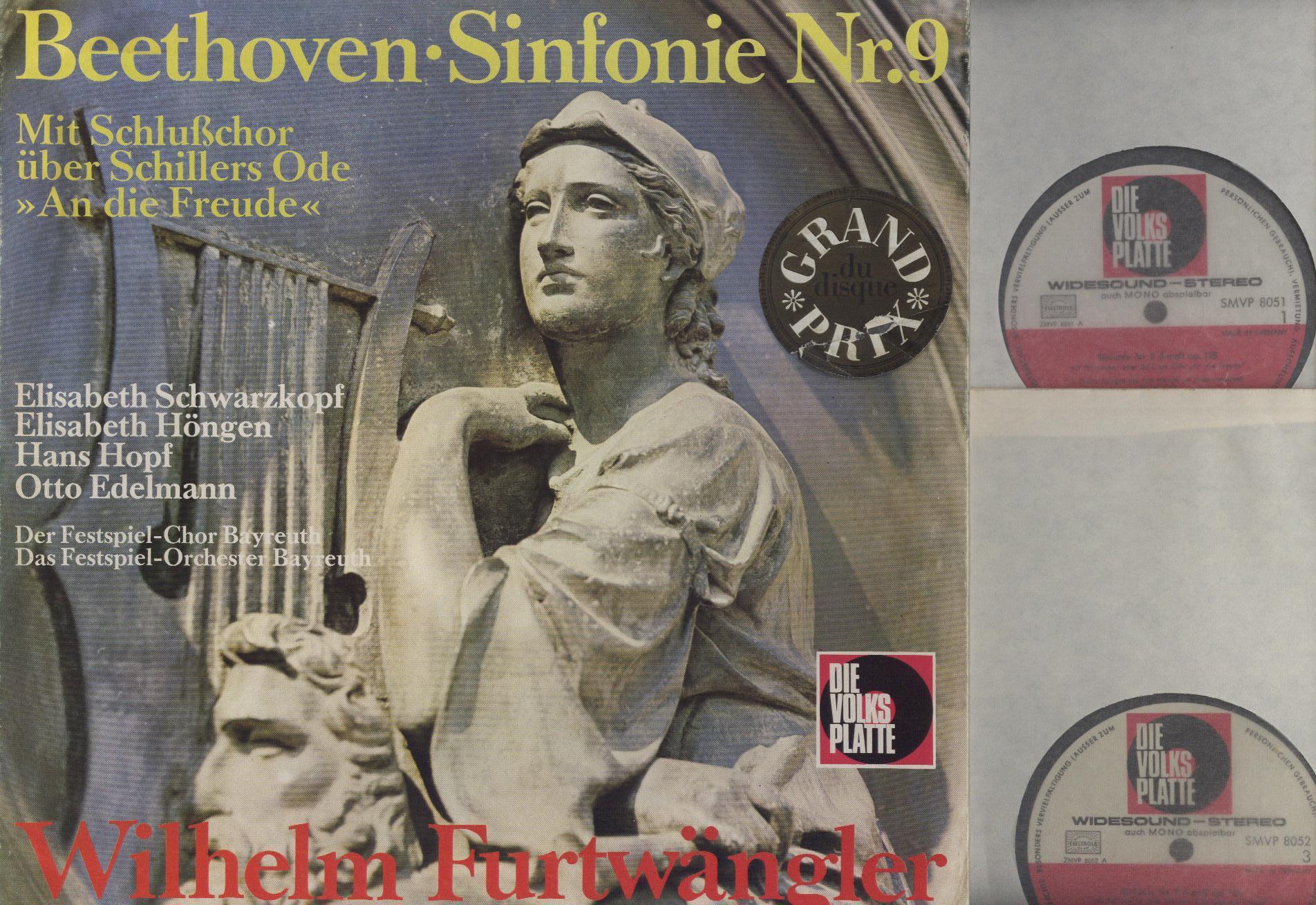 Ludwig van Beethoven, Wilhelm Furtwängler - Sinfonie Nr. 9 Mit Schlusschor Uber Schillers Ode ''An Die Freude'' - LP Box Set
