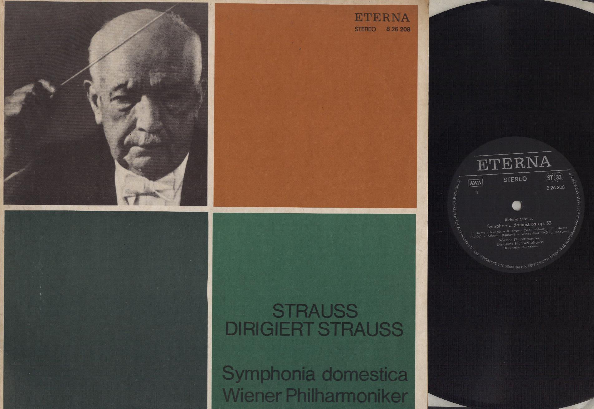 Richard Strauss, Wiener Philharmoniker - Symphonia Domestica Op.53 - LP