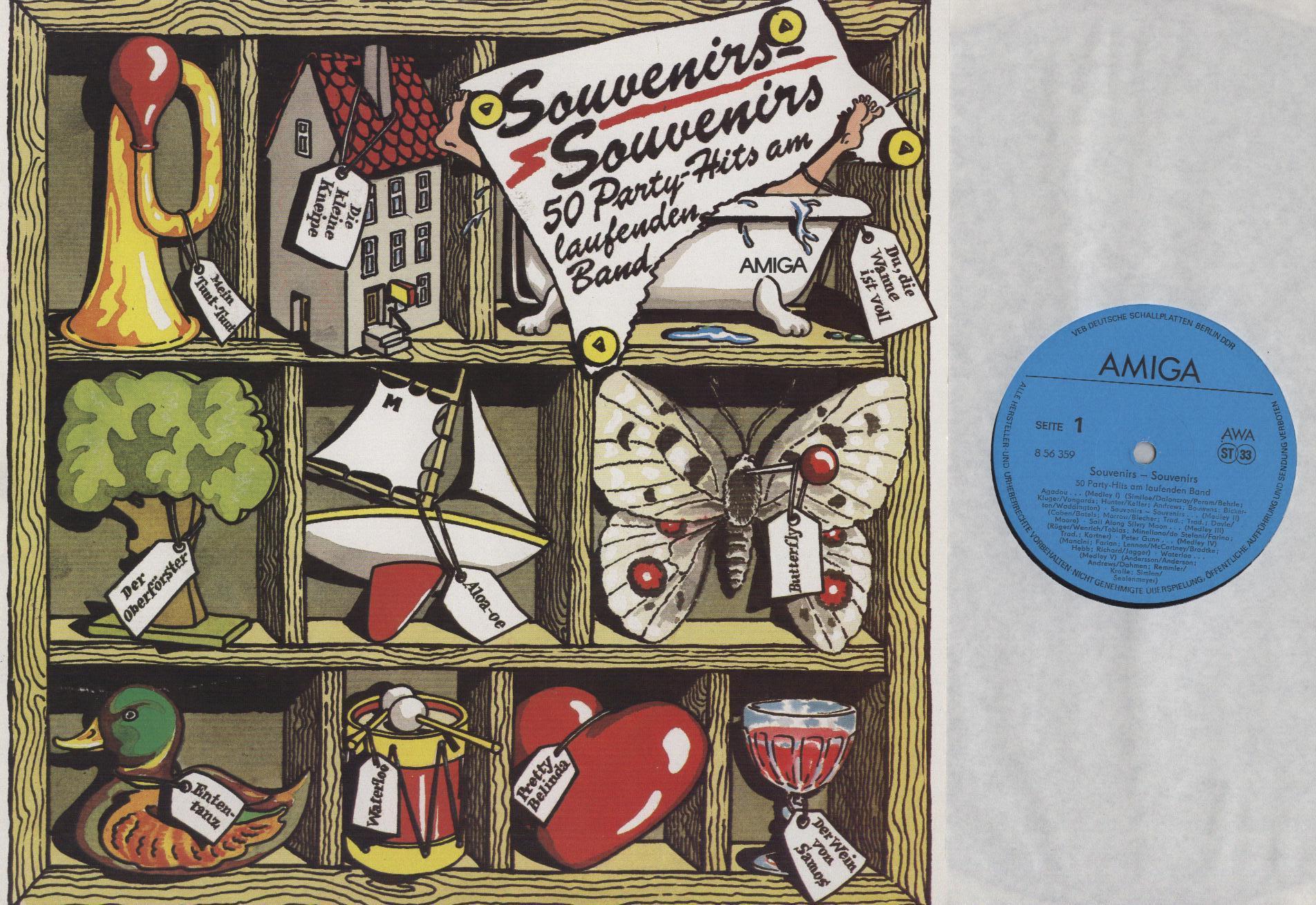 Lothar Kehr Mit Chor Und Orchester Allotria - Souvenirs-Souvenirs 50 Party-Hits Am Laufenden Band - 33T